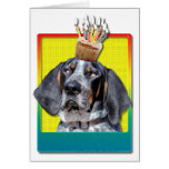 Birthday Cupcake - Bluetick Coonhound - Chuck Greeting Cards