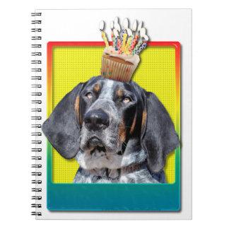 Birthday Cupcake - Bluetick Coonhound - Chuck Spiral Note Book