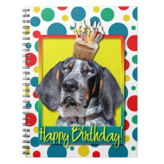 Birthday Cupcake - Bluetick Coonhound - Chuck Spiral Notebook