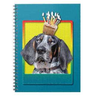 Birthday Cupcake - Bluetick Coonhound - Chuck Spiral Notebooks