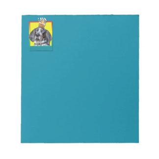 Birthday Cupcake - Bluetick Coonhound - Chuck Note Pads