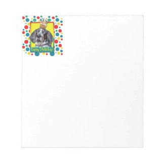Birthday Cupcake - Bluetick Coonhound - Chuck Memo Notepads