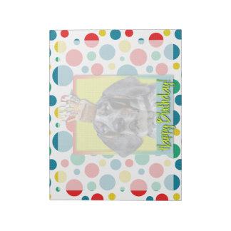 Birthday Cupcake - Bluetick Coonhound - Chuck Notepad