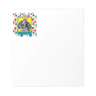 Birthday Cupcake - Bluetick Coonhound - Chuck Memo Note Pads