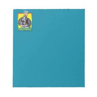 Birthday Cupcake - Bluetick Coonhound - Chuck Scratch Pad