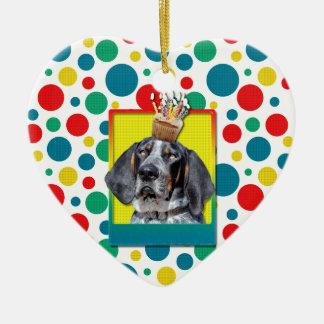 Birthday Cupcake - Bluetick Coonhound - Chuck Christmas Ornament