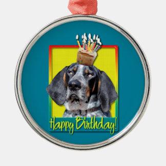 Birthday Cupcake - Bluetick Coonhound - Chuck Christmas Tree Ornaments