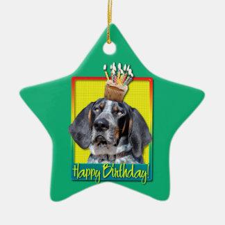 Birthday Cupcake - Bluetick Coonhound - Chuck Ornaments