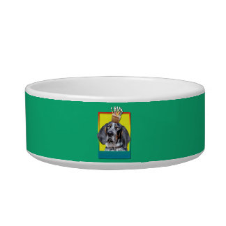 Birthday Cupcake - Bluetick Coonhound - Chuck Pet Bowls