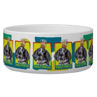 Birthday Cupcake - Bluetick Coonhound - Chuck Dog Bowl
