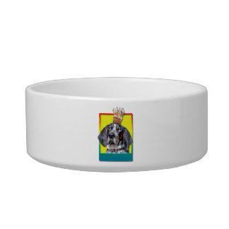 Birthday Cupcake - Bluetick Coonhound - Chuck Cat Food Bowl