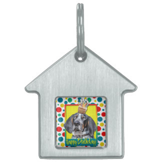 Birthday Cupcake - Bluetick Coonhound - Chuck Pet Tag