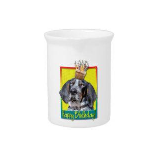 Birthday Cupcake - Bluetick Coonhound - Chuck Beverage Pitchers