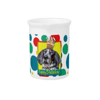Birthday Cupcake - Bluetick Coonhound - Chuck Drink Pitcher