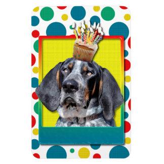 Birthday Cupcake - Bluetick Coonhound - Chuck Rectangular Magnet