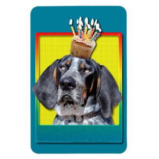 Birthday Cupcake - Bluetick Coonhound - Chuck Magnets