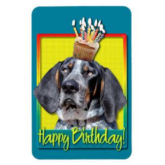 Birthday Cupcake - Bluetick Coonhound - Chuck Vinyl Magnet