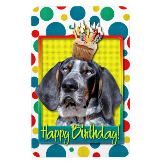 Birthday Cupcake - Bluetick Coonhound - Chuck Magnet