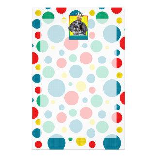 Birthday Cupcake - Bluetick Coonhound - Chuck Personalized Stationery