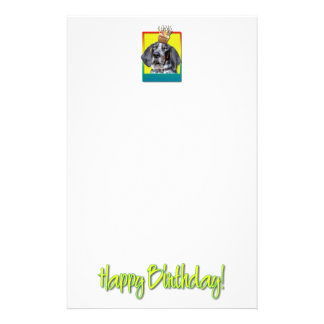 Birthday Cupcake - Bluetick Coonhound - Chuck Stationery Paper
