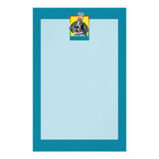 Birthday Cupcake - Bluetick Coonhound - Chuck Stationery Design