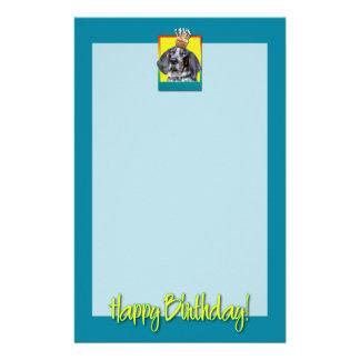 Birthday Cupcake - Bluetick Coonhound - Chuck Custom Stationery
