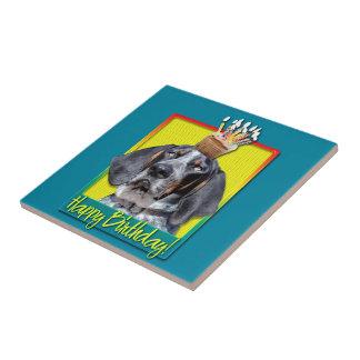 Birthday Cupcake - Bluetick Coonhound - Chuck Ceramic Tile