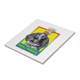 Birthday Cupcake - Bluetick Coonhound - Chuck Tile