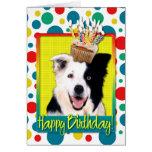 Birthday Cupcake - Border Collie Card