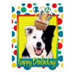 Birthday Cupcake - Border Collie Postcard