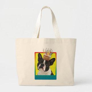 Birthday Cupcake - Boston Terrier Canvas Bags