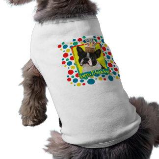Birthday Cupcake - Boston Terrier Doggie Tee Shirt