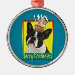 Birthday Cupcake - Boston Terrier Ornaments