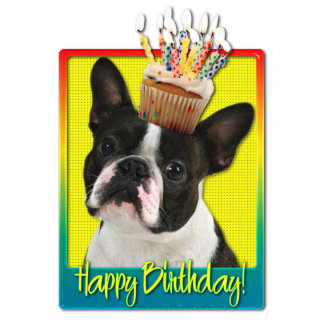 Birthday Cupcake - Boston Terrier Cut Outs