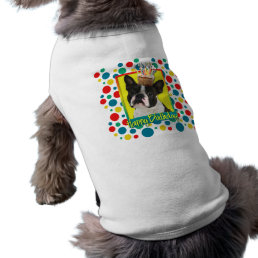 Birthday Cupcake - Boston Terrier T-Shirt