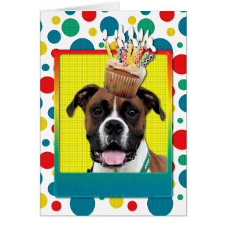 Birthday Cupcake - Boxer - Vindy Greeting Cards