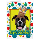 Birthday Cupcake - Boxer - Vindy Greeting Card