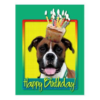 Birthday Cupcake - Boxer - Vindy Postcard