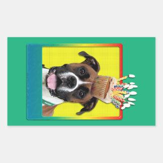 Birthday Cupcake - Boxer - Vindy Rectangular Sticker