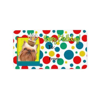 Birthday Cupcake - Brussels Griffon Label