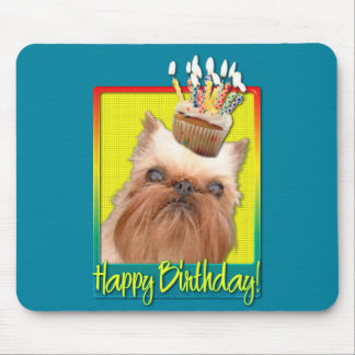 Birthday Cupcake - Brussels Griffon Mouse Pad