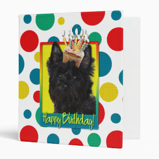 Birthday Cupcake - Cairn Terrier - Rosco 3 Ring Binders