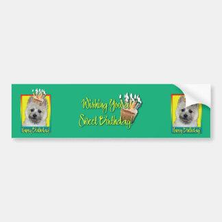 Birthday Cupcake - Cairn Terrier - Teddy Bear Bumper Sticker