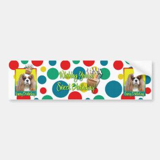 Birthday Cupcake - Cavalier - Blenheim Car Bumper Sticker