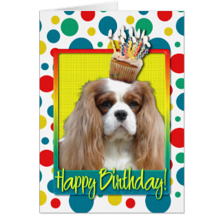 Birthday Cupcake - Cavalier - Blenheim Card