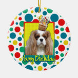 Birthday Cupcake - Cavalier - Blenheim Christmas Ornaments