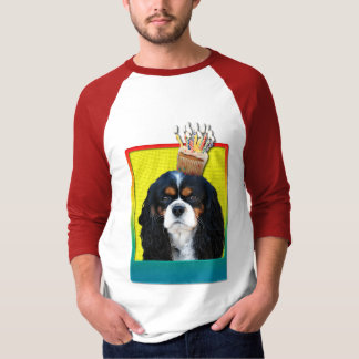 Birthday Cupcake - Cavalier - Tri-Color T-Shirt