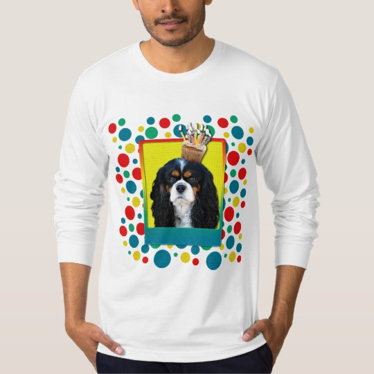 Birthday Cupcake - Cavalier - TriColor T-Shirt
