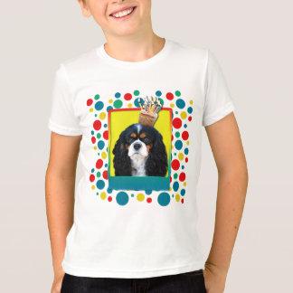 Birthday Cupcake - Cavalier - TriColor T-Shirt