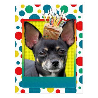 Birthday Cupcake - Chihuahua - Isabella Post Card